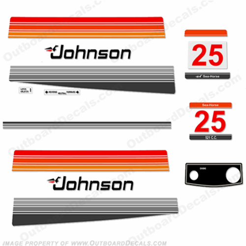 Johnson 1980 25hp Electric Decals