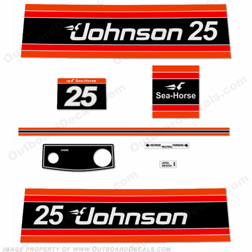 Johnson 1981 25hp Electric Decals