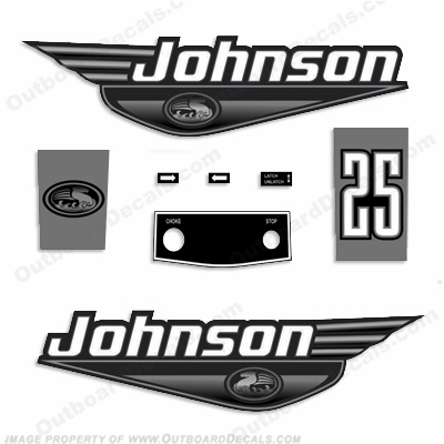 Johnson 25hp Decals - 1999 - 2000