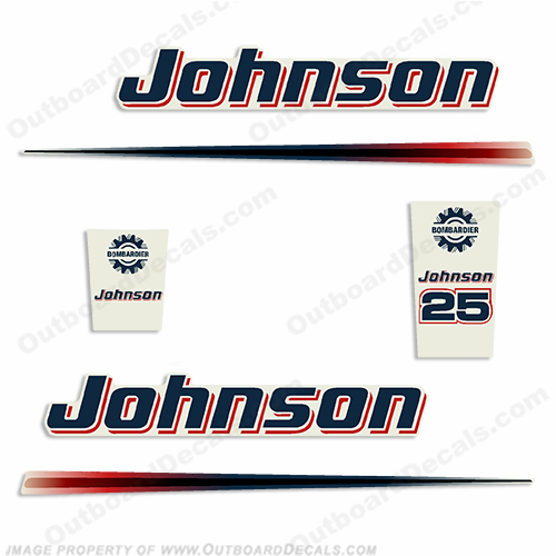 Johnson 25hp Decals