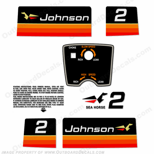 Johnson 1974 2hp Decals