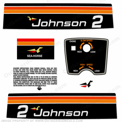 Johnson 1975 2hp Decals
