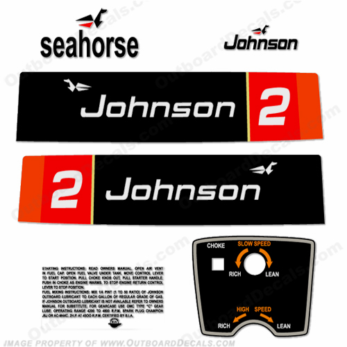 Johnson 1976 2hp Decals