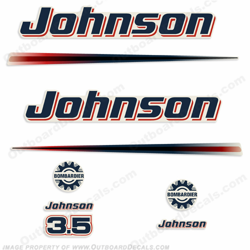Johnson 3.5hp Decals