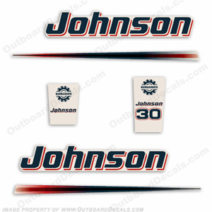 Johnson 30hp Decals