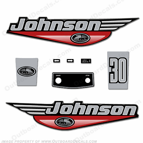 Johnson 30hp Decals - 1999 - 2000 - Red