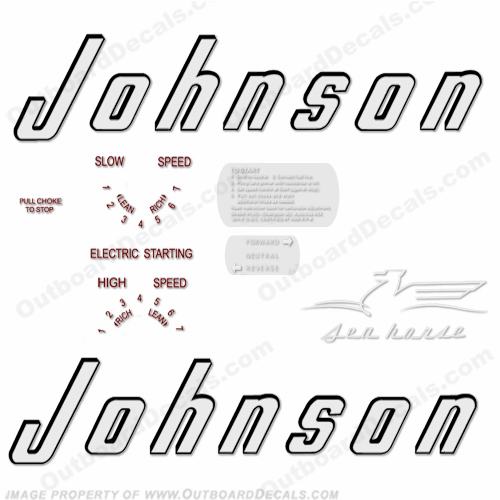 Johnson 1956 30hp - Electric - Style A Decals