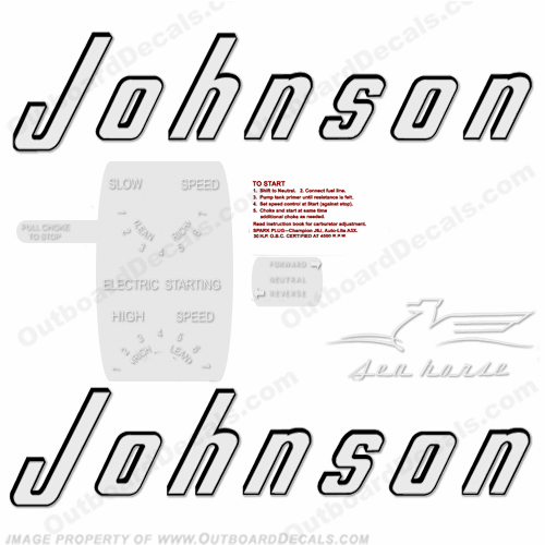 Johnson 1956 30hp - Electric - Style B Decals
