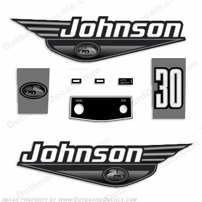 Johnson 30hp Decals - 1999 - 2000 - Black