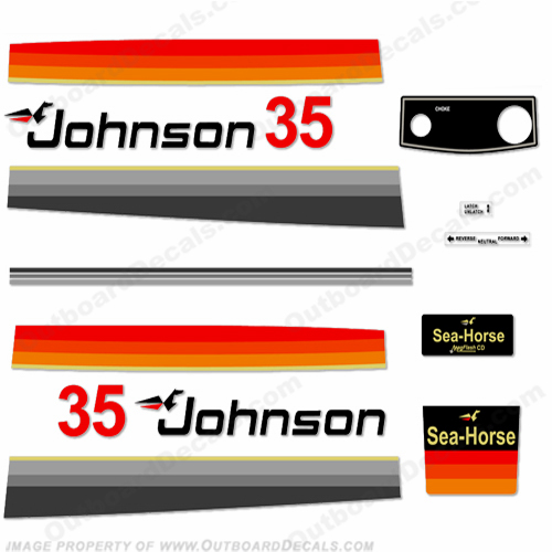 Johnson 1978 35hp Electric Decals