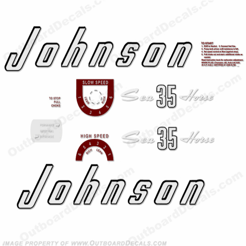 Johnson 1957 35hp Decals