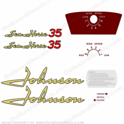 Johnson 1958 35hp Decals