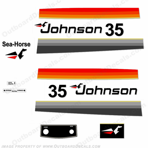 Johnson 1977 35hp Decals