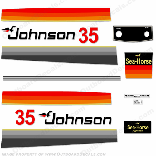 Johnson 1978 35hp Decals