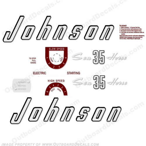 Johnson 1957 35hp - Electric Decals