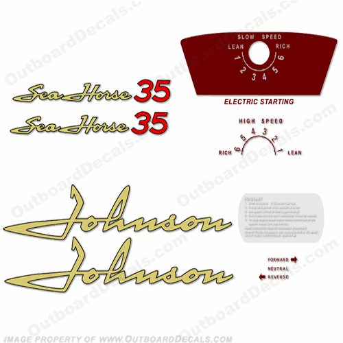 Johnson 1958 35hp - Electric Decals