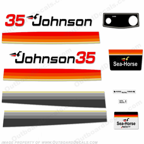 Johnson 1979 35hp Electric Decals