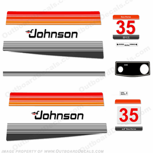 Johnson 1980 35hp Electric Decals