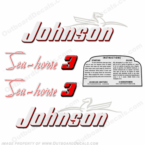 Johnson 1953 3hp Decals