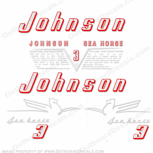 Johnson 1954 3hp Decals