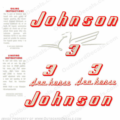 Johnson 1955 3hp Decals