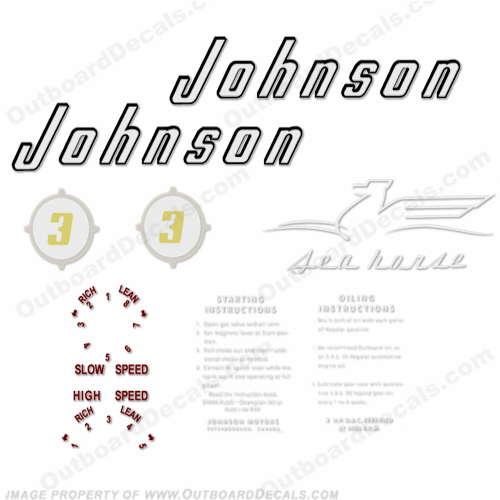 Johnson 1956 3hp Decals