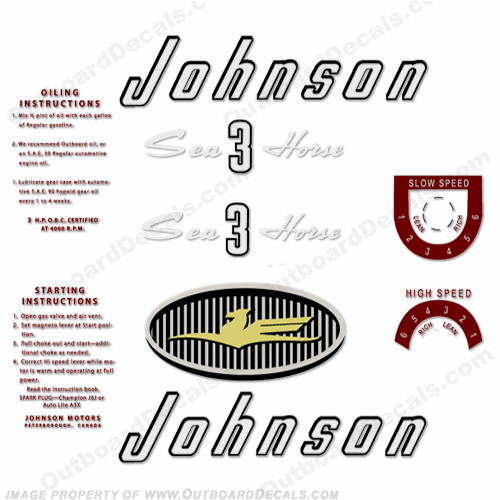 Johnson 1957 3hp Decals