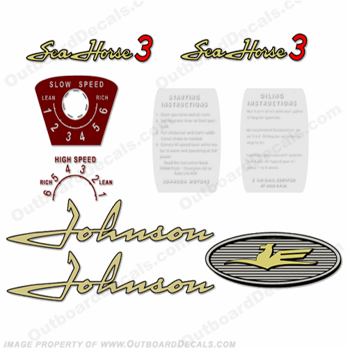 Johnson 1958 3hp Decals