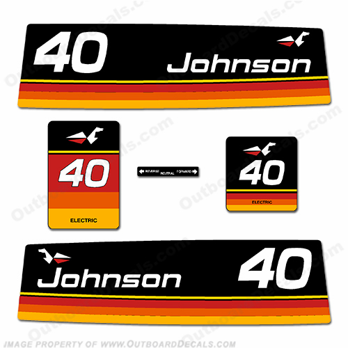 Johnson 1974 40hp - Electric Decals