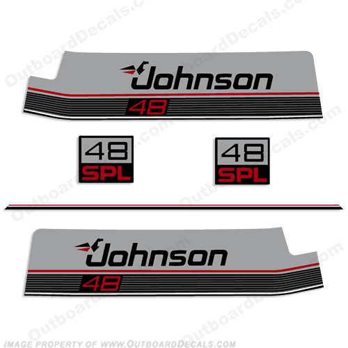 Johnson 48hp SPL Decal Kit 1987-1988 0398986, 88, 48 hp