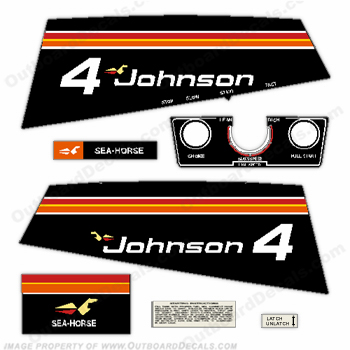 Johnson 1975 4hp Decals