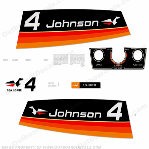 Johnson 1974 4hp Decals
