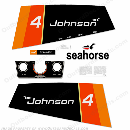 Johnson 1976 4hp Decals
