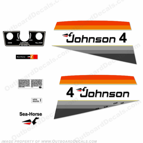 Johnson 1977 4hp Decals