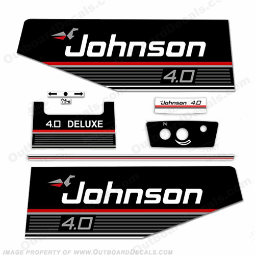 Johnson 1989 4hp Deluxe Decal Kit