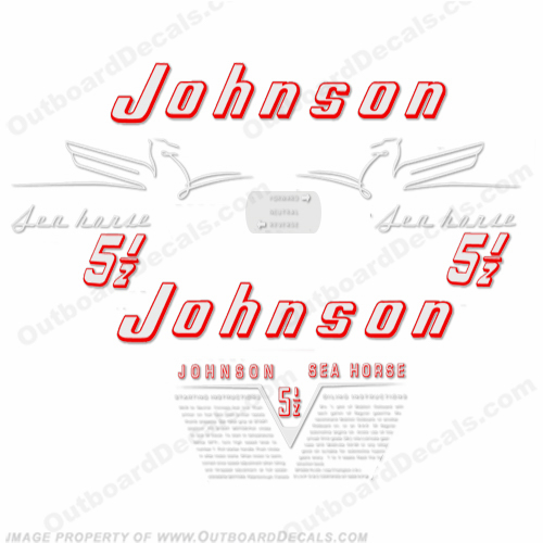 Johnson 1954 5.5hp Decals