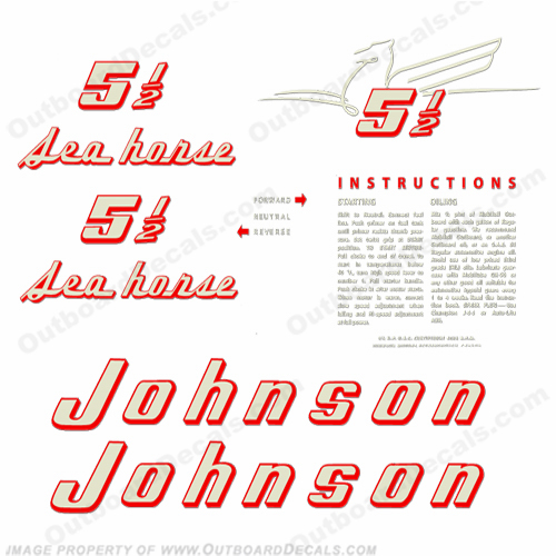 Johnson 1955 5.5hp Decals