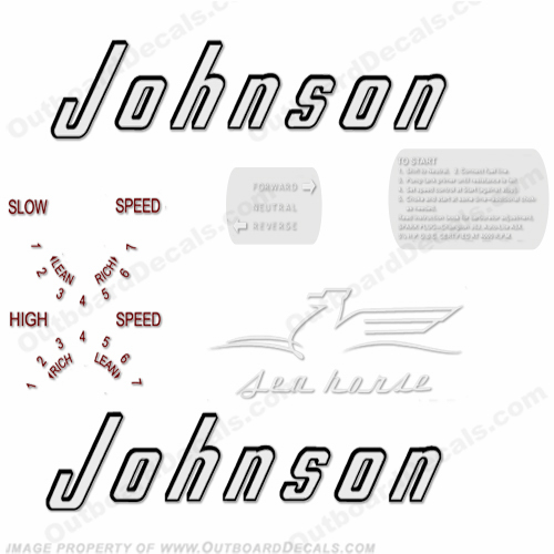 Johnson 1956 5.5hp Decals