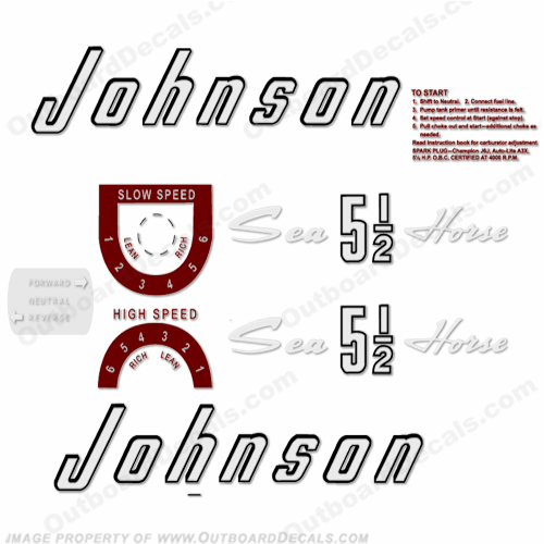 Johnson 1957 5.5hp Decals