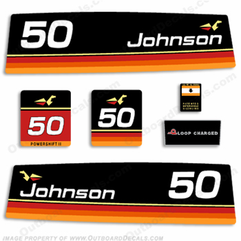 Johnson 1974 50hp Decals