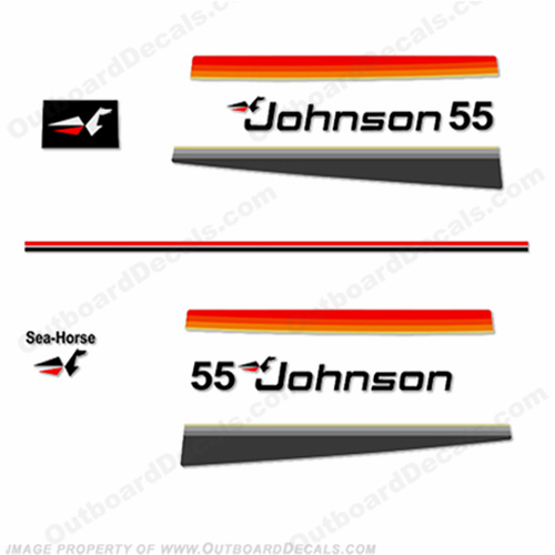 Johnson 1977 55hp Decals