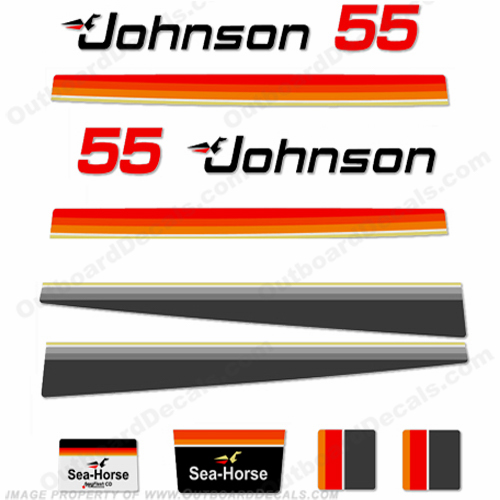 Johnson 1979 55hp Electric Decals