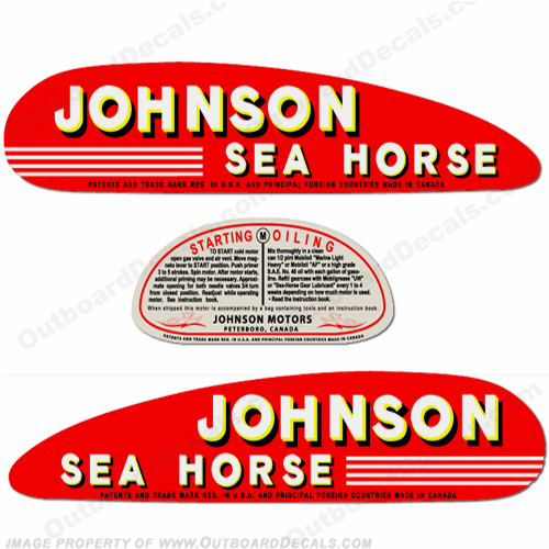 Johnson 1941 5hp Decals
