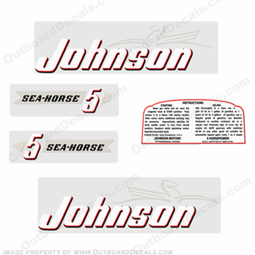 Johnson 1952 5hp Decals - Style A