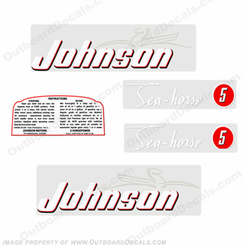 Johnson 1952 5hp Decals - Style B