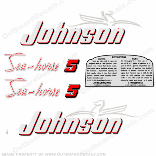 Johnson 1953 5hp Decals