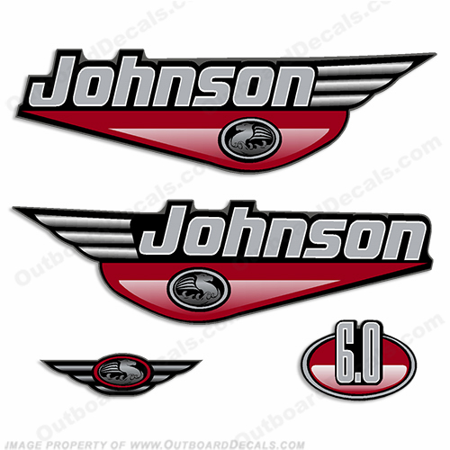 Johnson 6.0hp Decals (Red) - 2000