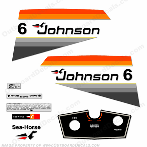 Johnson 1977 6hp Decals
