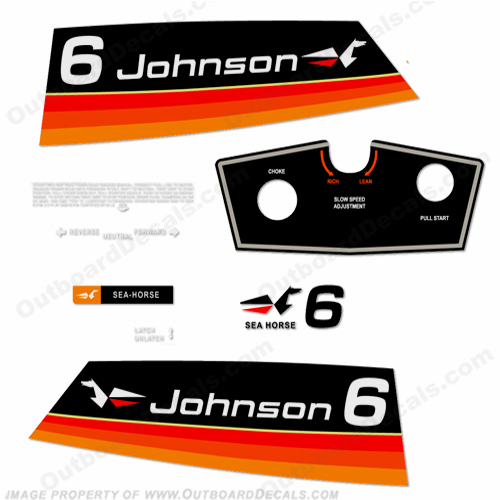 Johnson 1974 6hp Decals