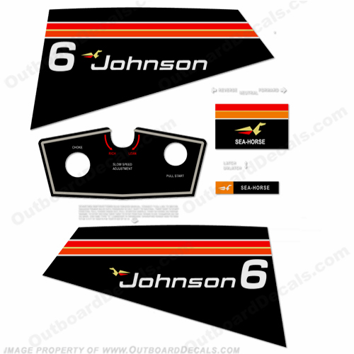 Johnson 1975 6hp Decals